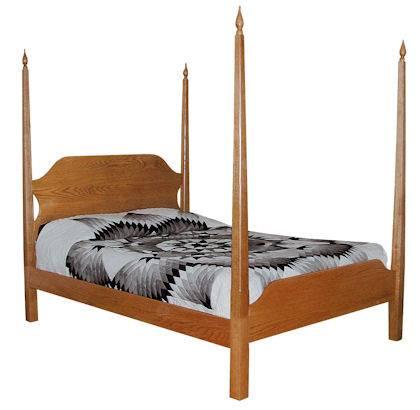 CWF400 Shaker Bedroom Set Pencil Post Bed
