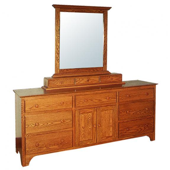 CWF400 Shaker Bedroom Set Triple Dresser