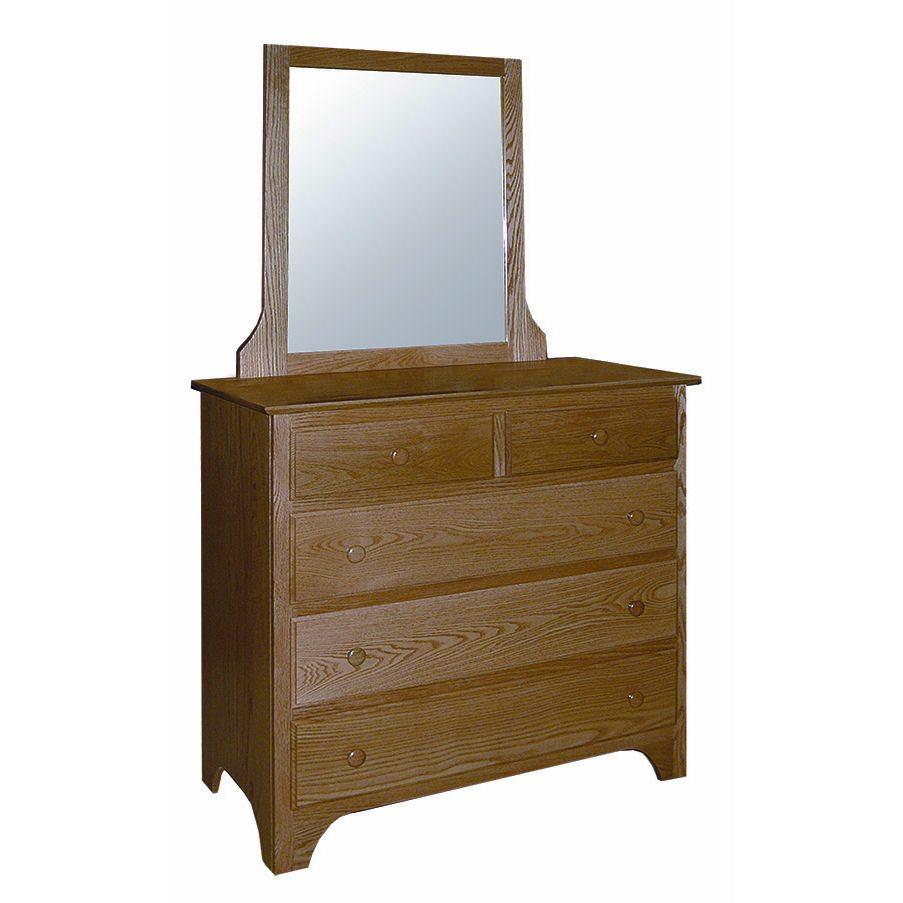 CWF400 Shaker Bedroom Set 5 Drawer Small Dresser