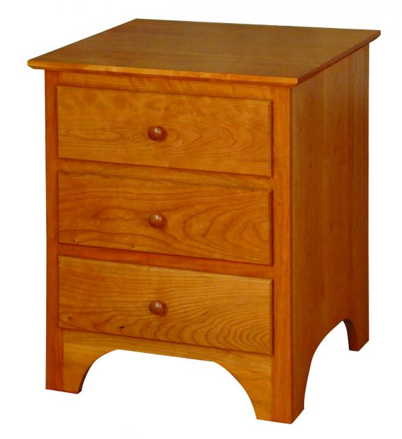 CWF400 Shaker Bedroom Set 3 Drawer Nightstand