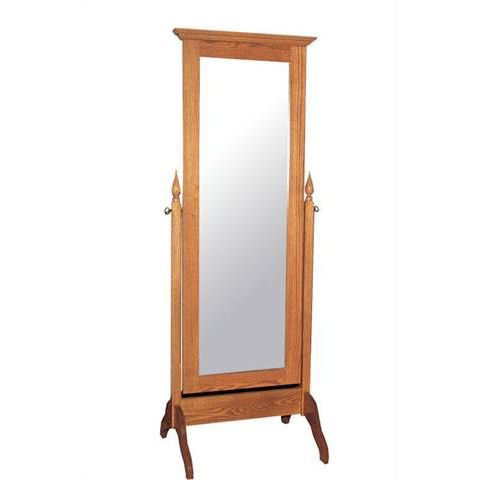 CWF400 Shaker Bedroom Set Cheval Mirror