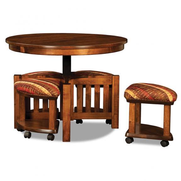 AJW5RD 5 Piece Round Table Bench Set