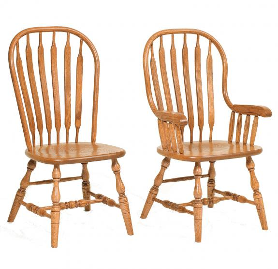 Jumbo Bent Paddle Oak Dining Chair