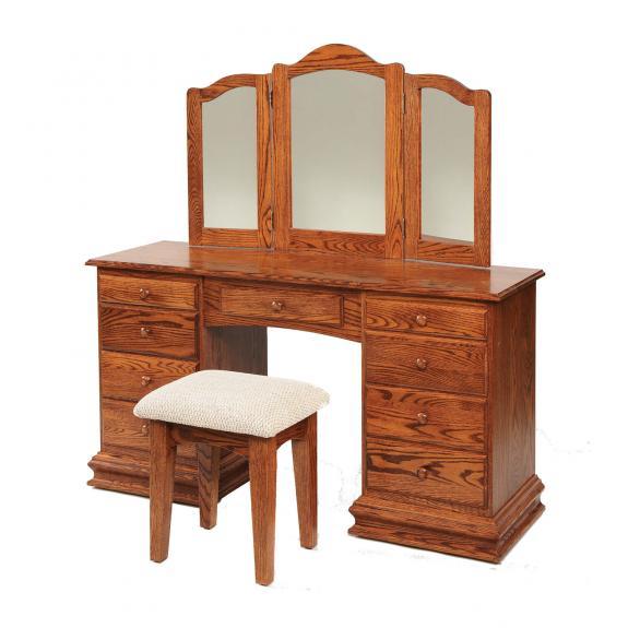 "56"" Deluxe Clockbase Dressing Table / Vanities"