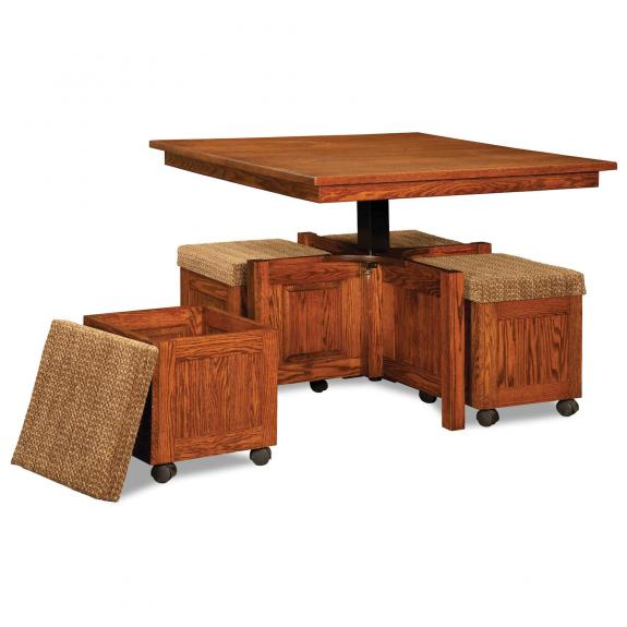 AJW5SQ 5 Piece Square Table Bench Set