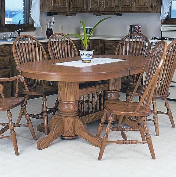 Double Pedestal Oval Table Collection for Sale in Dayton ...