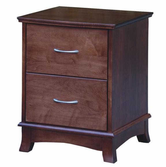 CWF 700 Crescent Bedroom Set 2 Drawer Nightstand