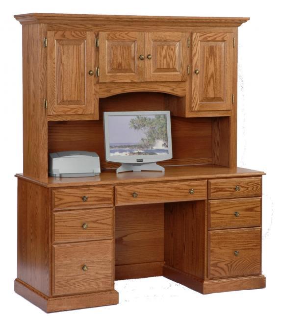 778 Oak Desk with Hutch