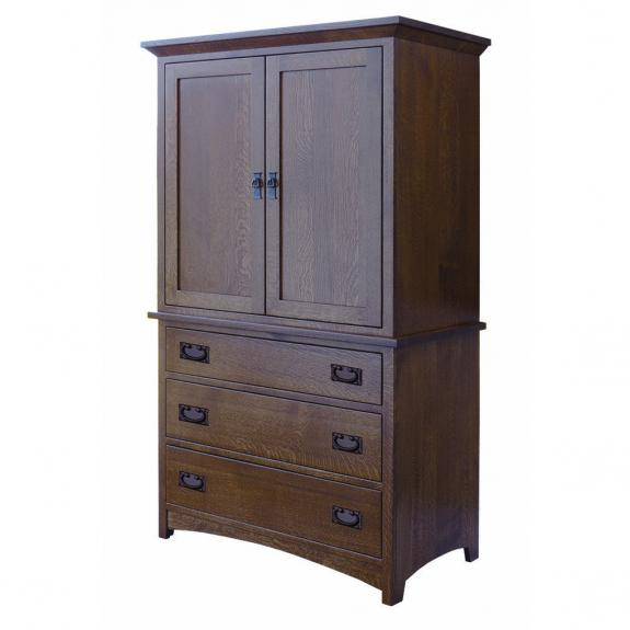 Empire Mission Bedroom Set 2 Piece Armoire