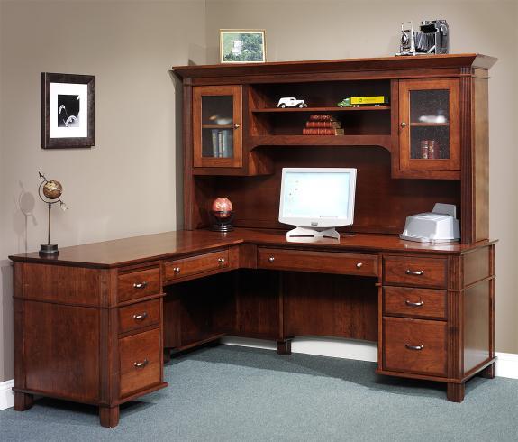 851 Arlington L-Shaped Desk with Hutch