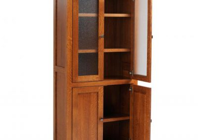 9-3672-BOOKCASE-W-DOORS-OPEN