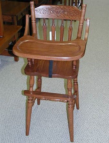 Merveilleux Quality, Solid Wood High Chairs And Youth Chairs. All Of These  Amish Crafted High Chairs Are Available In Oak And Are Built To Last.