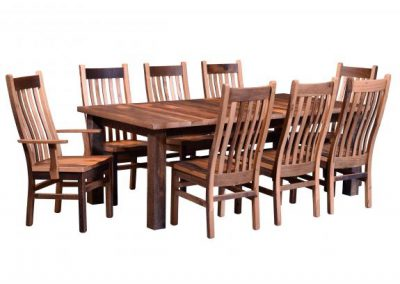 Almanzo-Dining-Table-with-Mission-Chairs
