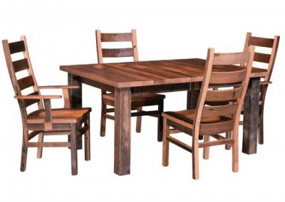 Almanzo-Table-and-Ladderback-Chairs