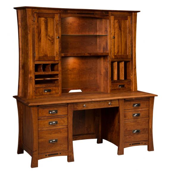 LA-322 Arts & Crafts Desk with Hutch