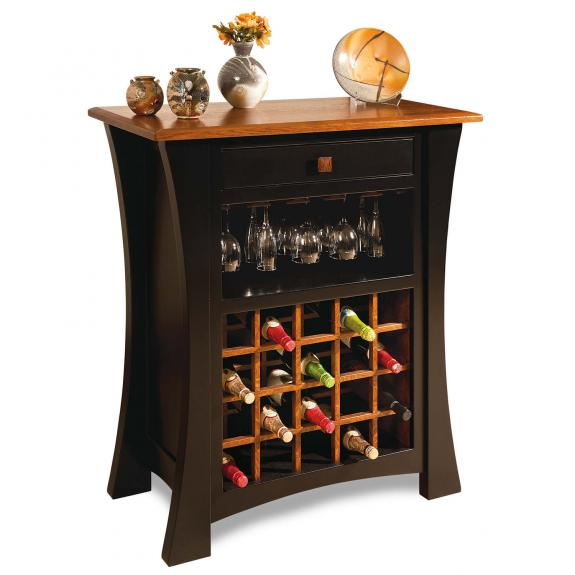 Arts & Crafts Pub Table Collection Wine Cabinet