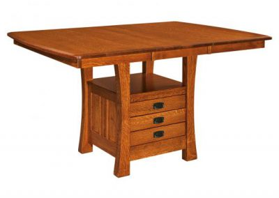 ArtsandCrafts-Cabinet-Table-with-Leaf