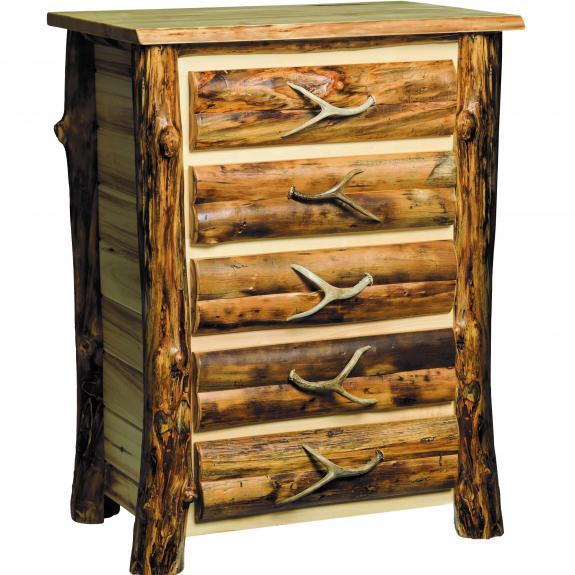 Aspen Rustic Bedroom Set Aspen 6 Drawer Dresser