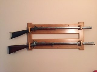 Custom Designed Wall Mount Gun Rack, Cherry