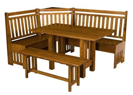 AJW3000 Bay Hill Slat Breakfast Nook Table