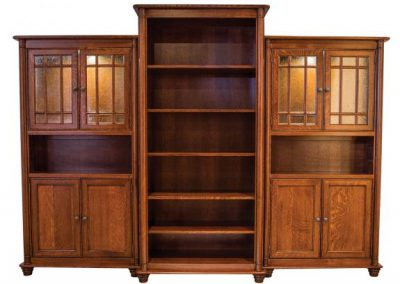 Belmont-Bookcases-with-lighted-hutch