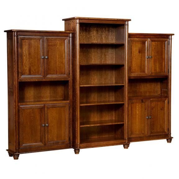 BBD80 Belmont Bookcase with Side Bookcases