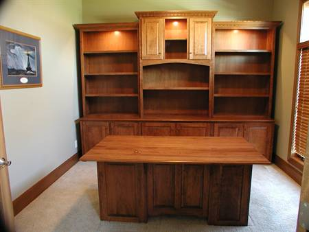 Wall Unit with Executive Desk