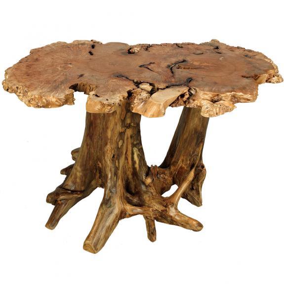 Rustic Big Leaf Dining Table