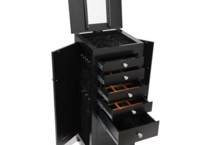 Black-Mission-48-Jewelry-Armoire-Open