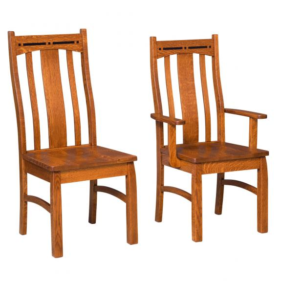 Boulder Creek Wood Dining Chairs