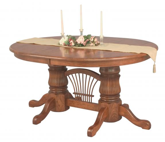 Fluted Double Pedestal Dining Table