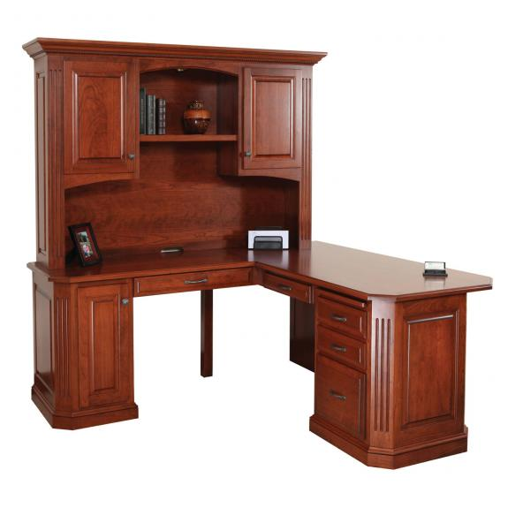 "BUC-102 Buckingham 68"" Corner Desk with Hutch"