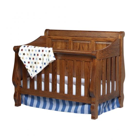 111-RP Heirloom Sleigh Baby Crib