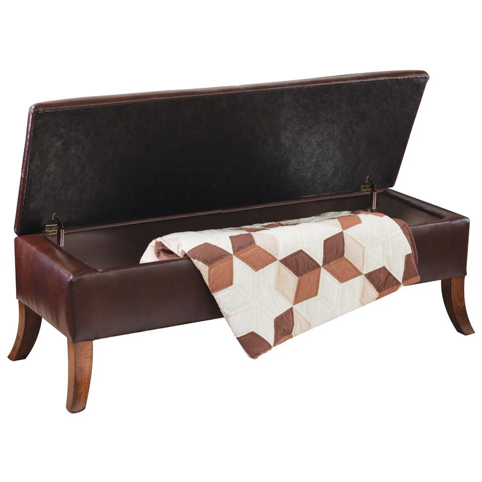 Callista Leather Bench