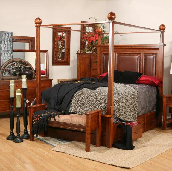 Marrakesh Canopy Storage Bed Clear Creek Amish Furniture