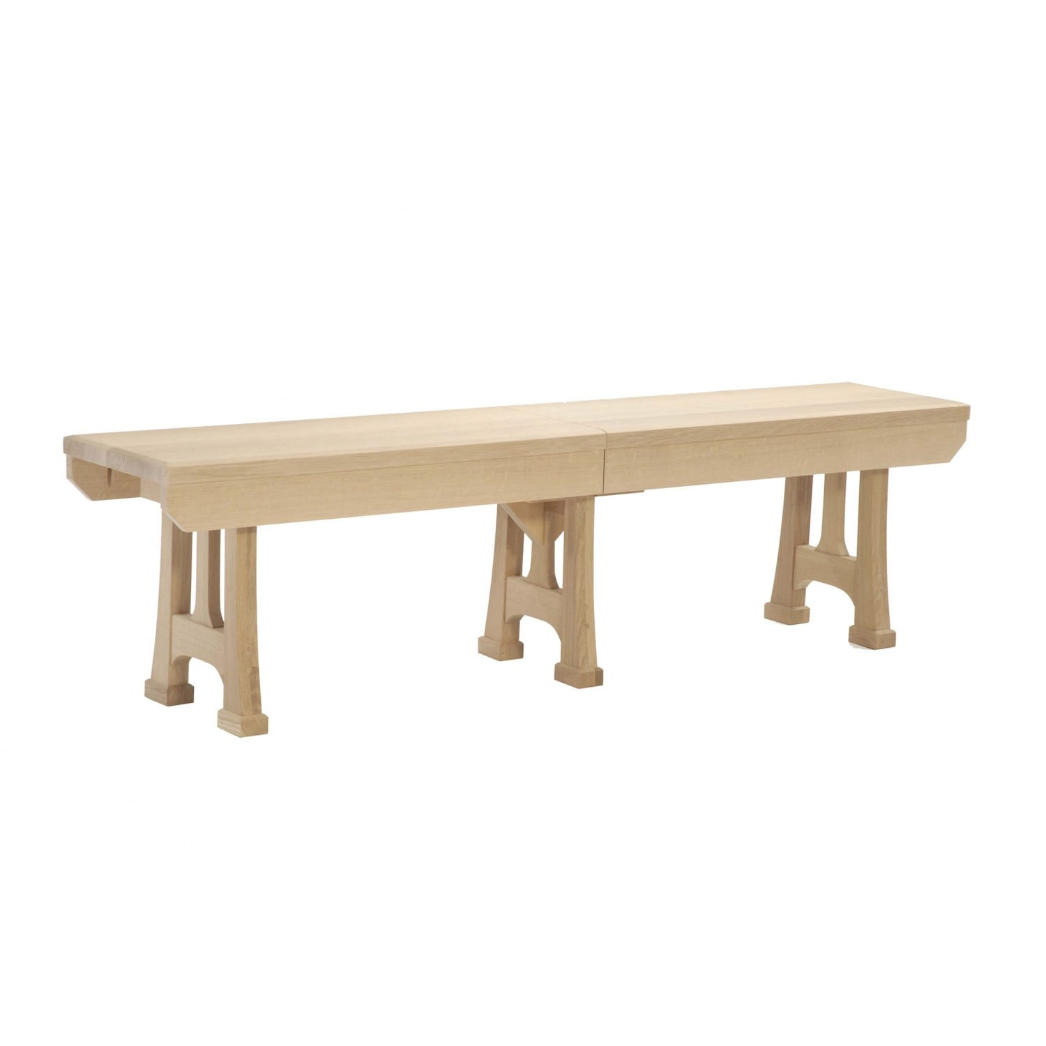 Christy Trestle Table Set Extension Dining Bench