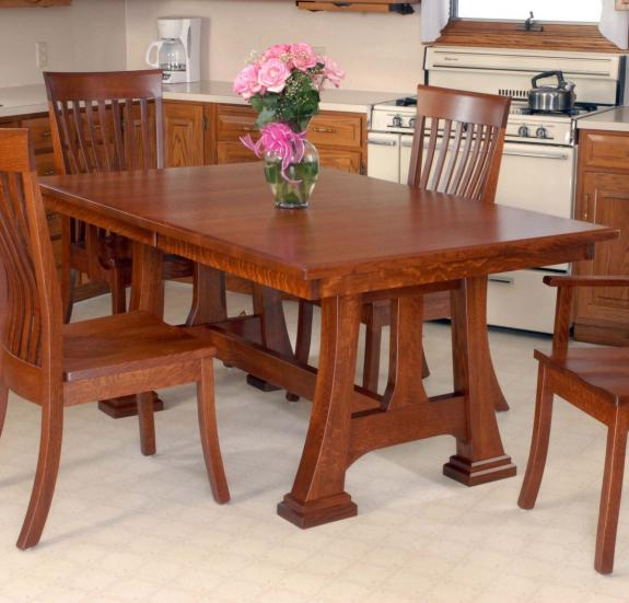 Christy Trestle Table Set Christy Dining Table