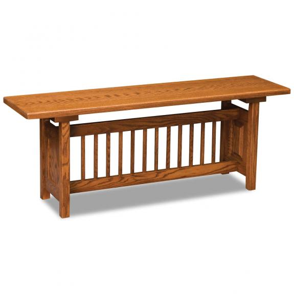 AJW48CM Classic Mission Trestle Bench
