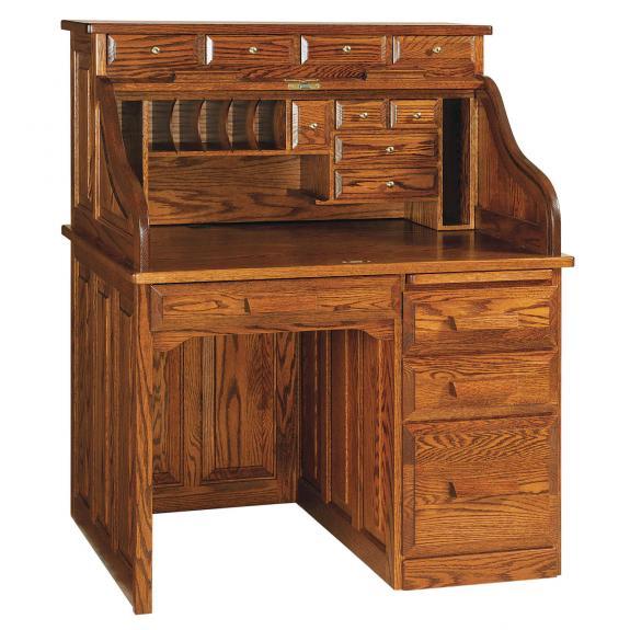 RW2007 Classic Single Pedestal Roll Top Desk