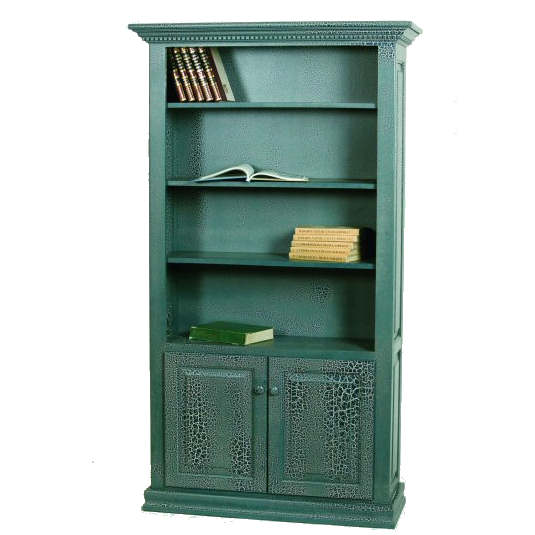 F-3672B Classic Bookcase with Bottom Doors