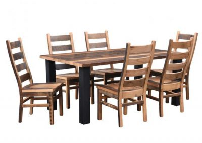 Clinton-Table-with-Ladderback-Chairs