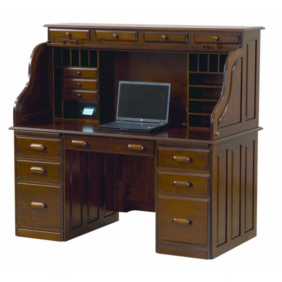 Cdr3260 Deluxe Computer Rolltop Desk Clear Creek Amish