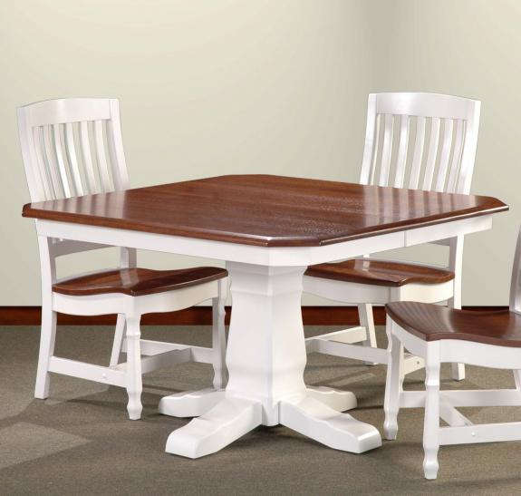 30 Country Mission Pedestal Dining Set 30 Square Pedestal Table