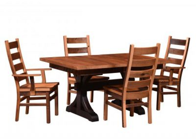 Croft-Extendable-Table-and-Ladderback-Chairs