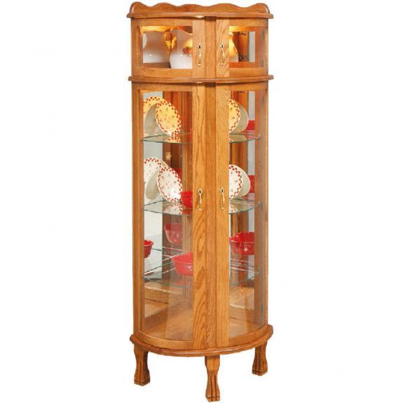 Bonnet Top Corner Curio Cabinet 2018