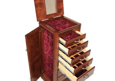 Deluxe-Jewelry-Armoire-Cherry-Open