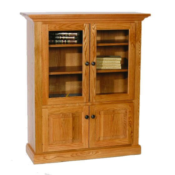 D-3648D Deluxe Bookcase with Top and Bottom Drawers