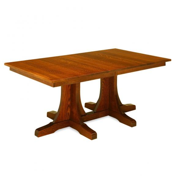 Double Pedestal Mission Table Clear Creek Amish