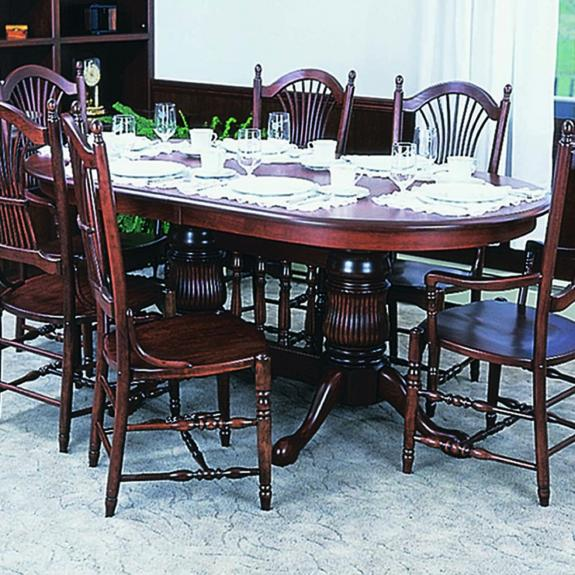 Double Pedestal Traditional Dining Set 60 Double Pedestal Oval Table
