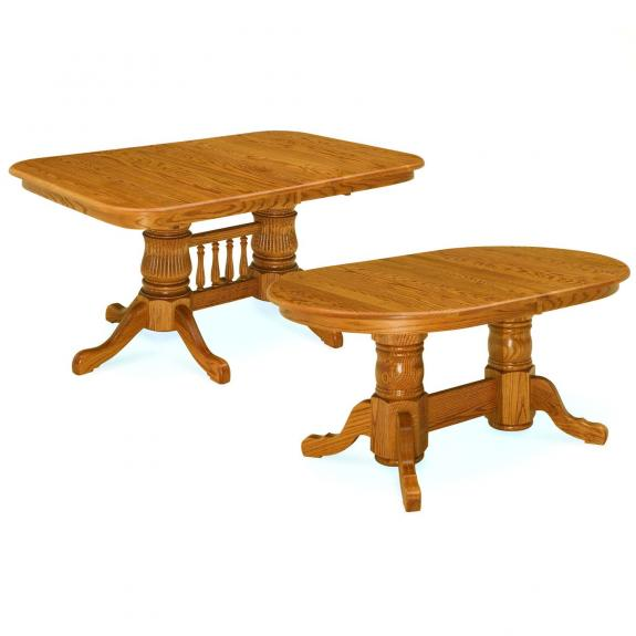Double Pedestal Dining Room Table: Double Pedestal Dining Room Table For Sale In Dayton